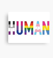 HUMAN Pride Canvas Print