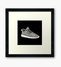 Yeezy Boost 350 Sticker  Framed Print