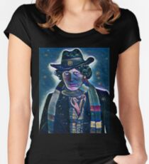 Doctor Who - Forth Doctor Women's Fitted Scoop T-Shirt