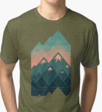 Geometric Mountains Tri-blend T-Shirt
