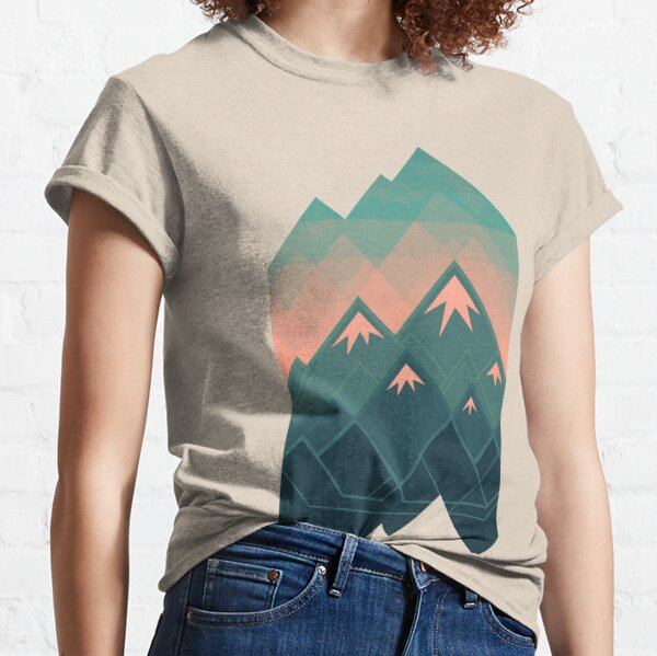 Geometric Mountains Classic T-Shirt