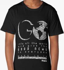 Go - Mark 16:15 Long T-Shirt