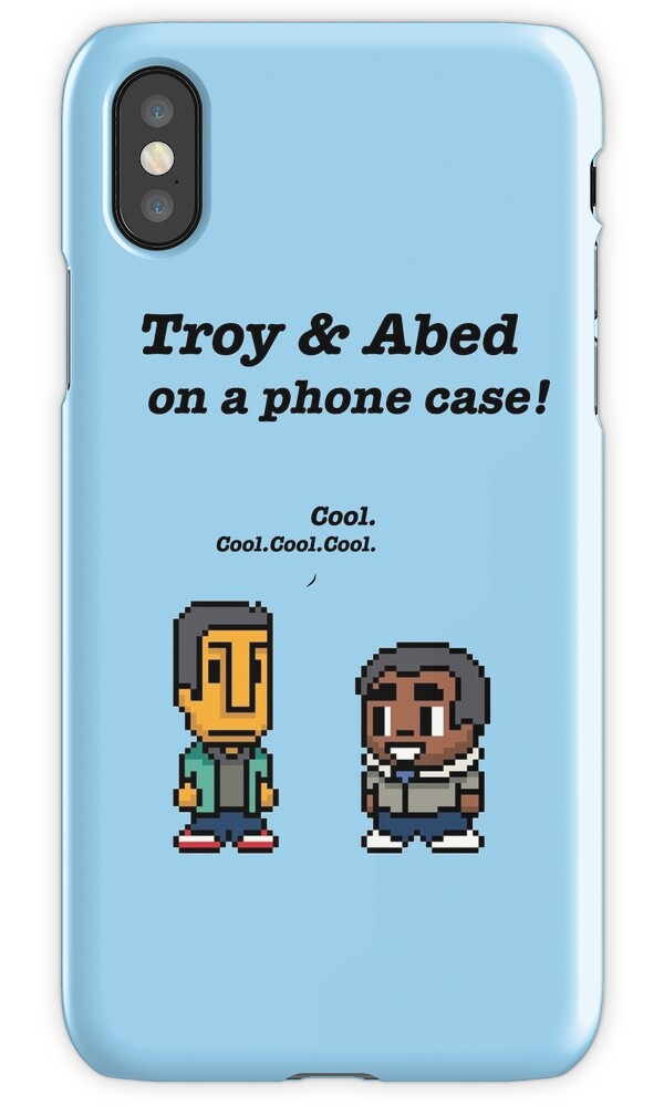 quottroy and abed 183 community 183 tv showquot iphone cases