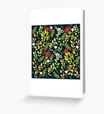 estampado floral clásico Greeting Card