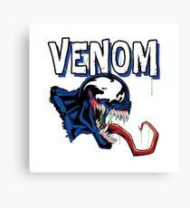 Venom White Art Canvas Print