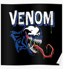 Venom Black art Poster