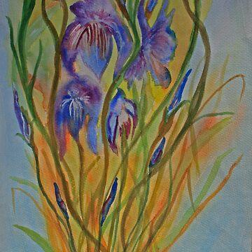 Dancing Irises by juliex
