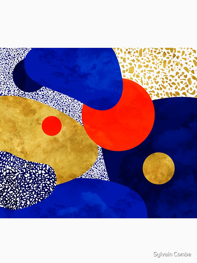 azul negro noche oro amarillo terrazo Galaxy de SylvainCombe