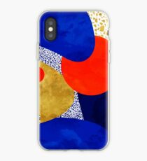 Terrazzo galaxy blau Nacht Gelbgold Orange iPhone-Hülle & Cover