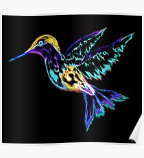 Electric Hummingbird Poster