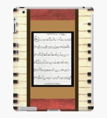 Piano keys with sheet music by Kristie Hubler iPad Case/Skin