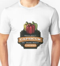 Organic Certified Capsicum Sticker T-Shirt