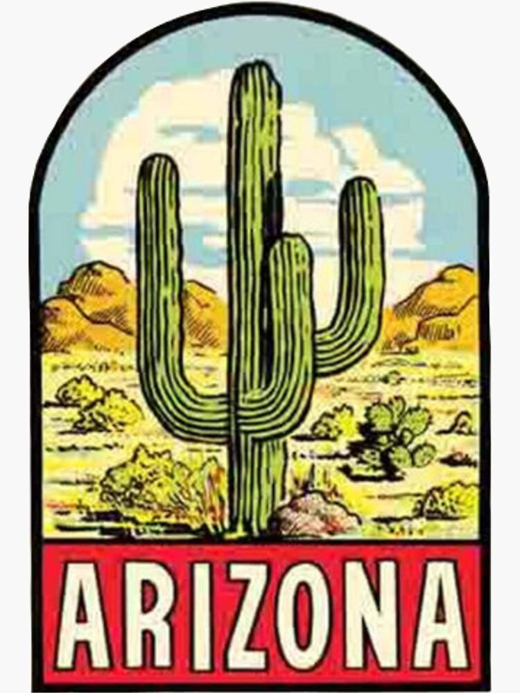 Arizona Vintage Travel Decal by MeLikeyTees