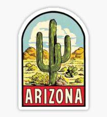 Pegatina Calcomanía de viaje vintage de Arizona