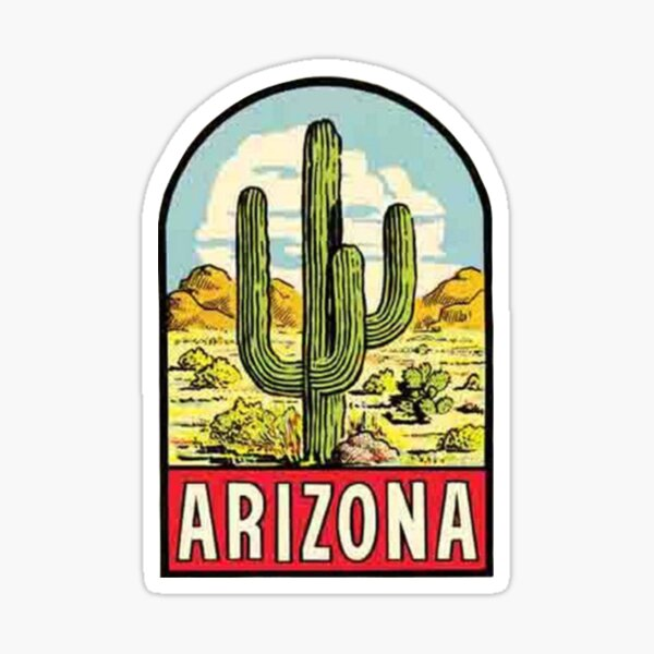 Arizona Vintage Travel Decal Sticker