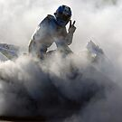 Cal Crutchlow Victory Burnout by glynlewins