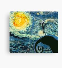 A Starry Nightmare Before Christmas Canvas Print