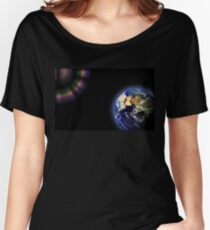 Earth Globe Space Women's Relaxed Fit T-Shirt