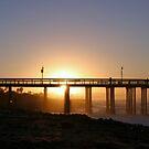 Sunrise Pier Ventura by Henrik Lehnerer