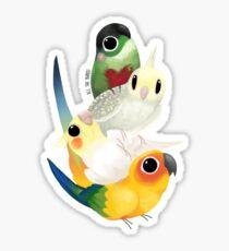Bird pile - commission Sticker