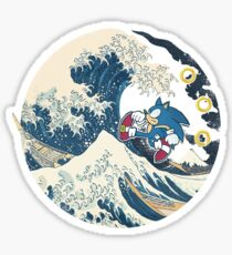 Sonic the Hedgehog - Hokusai Sticker