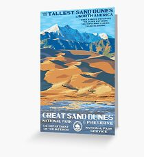 Great Sand Dunes National Park Travel Decal Greeting Card