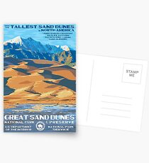 Great Sand Dunes National Park Travel Decal Postcards