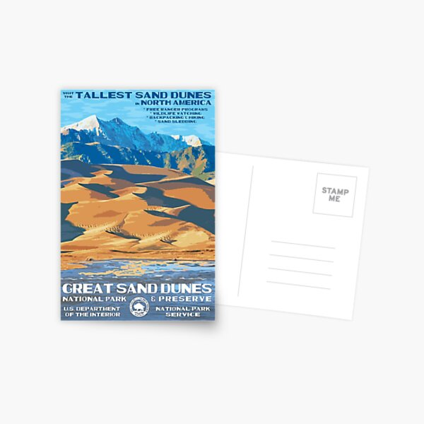 Great Sand Dunes National Park Travel Decal Postcard