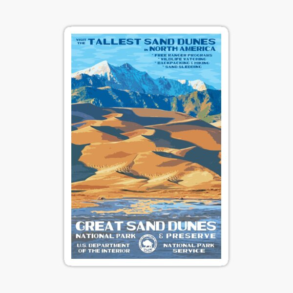 Great Sand Dunes National Park Travel Decal Sticker