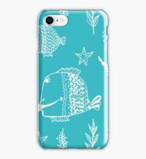 Underwater world seamless illustration iPhone Case/Skin