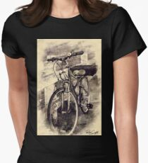 Resting the Wheels Womens Fitted T-Shirt