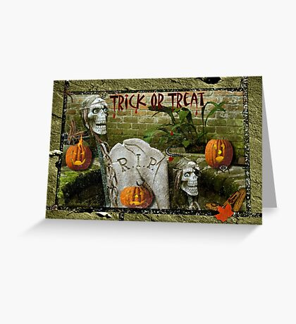 Trick or Treat on Spooky Halloween! Greeting Card