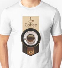 The best coffee shop sticker Unisex T-Shirt