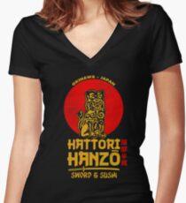 Hattori Hanzo T-shirt col V femme