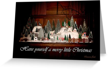 Old Fashioned 1940s Christmas Village by SummerJade