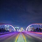 Stars Above West 7th Bridge in Fort Worth by josephhaubert