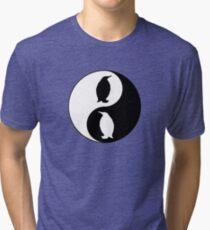 Yin Yang Penguin Tri-blend T-Shirt