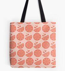 Cheerful Citrus in Pink Grapefruit Tote Bag