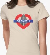 Grenfell tower Womens Fitted T-Shirt