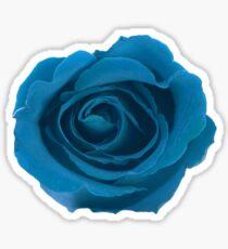 In Full Bloom - Big Blue Rose Floral Design Sticker