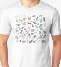 Dinosaurs (White) Unisex T-Shirt