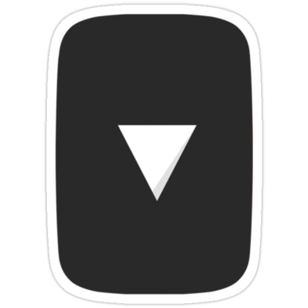 """""""Black YouTube Play Button - Vertical"""" Stickers by"""