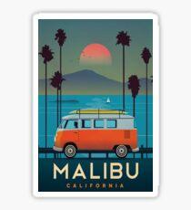 Malibu California Vintage Travel Decal Sticker
