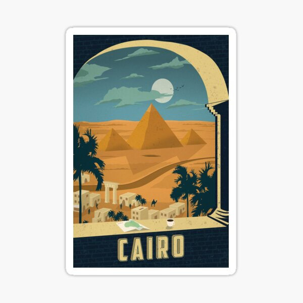 Cairo Egypt Vintage Travel Decal Sticker