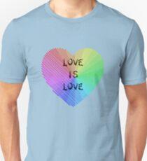 LGBTQ Pride Month Love is Love  - Rainbow 2017  Unisex T-Shirt