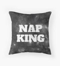 Nap king print Throw Pillow