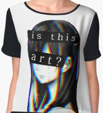 Is this Art Sad japanese aesthetic  Women's Chiffon Top