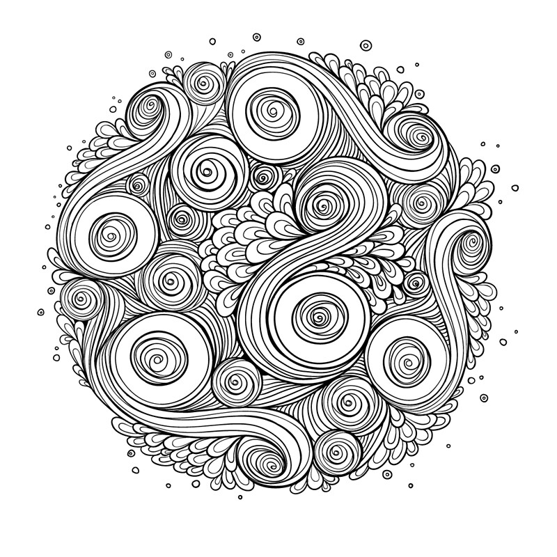 """White and black doodle mandala "" Art Prints by Julia ..."
