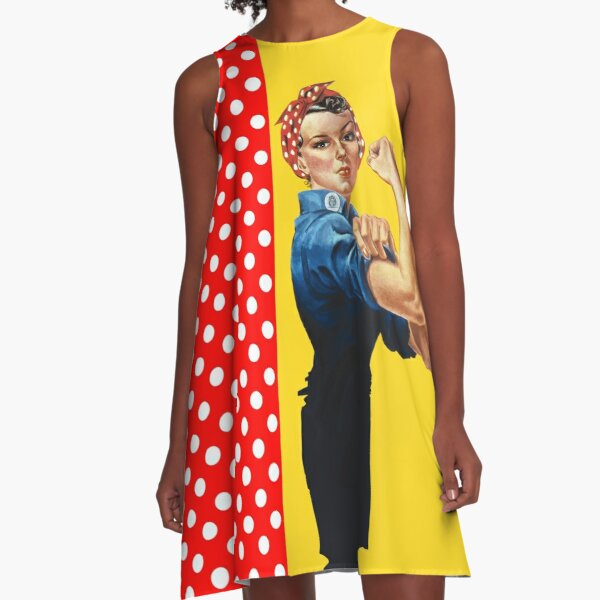 Rosie and Polka Dots A-Line Dress