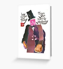 Stamp People Series (Abraham Lincoln) Greeting Card